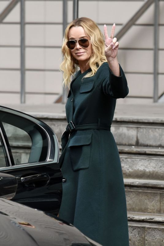 AMANDA HOLDEN Leaves Her Hotel in Manchester 02/07/2019
