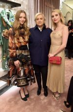 AMANDA SEYFRIED and EMMA ROBERTS at Fendi Celebrates Baguette in New York 02/07/2019