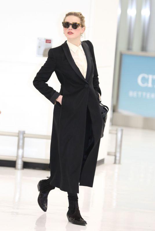 AMBER HEARD at Narita International Airport 02/02/2019