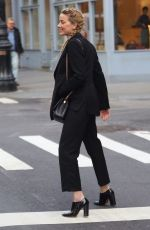 AMBER HEARD Heading to a Business Meeting in New York 02/08/2019