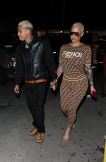 AMBER ROSE and Alexander Edwards at Delilah in West Hollywood 02/09/2019