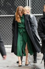 AMY ADAMS Arrives at Jimmy Kimmel Live in Los Angeles 02/13/2019