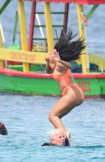 ANGELA SIMMONS in Bikini at a Boat in Barbados 02/07/2019