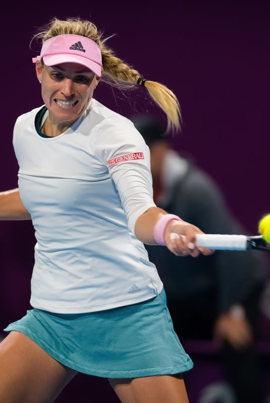 ANGELIQUE KERBER at 2019 WTA Qatar Open Quarter Final in Doha 02/13/2019