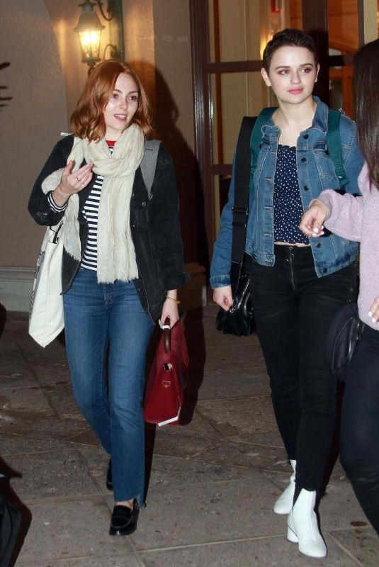ANNASOPHIA ROBB and JOEY KING Out in Los Angeles 02/11/2019