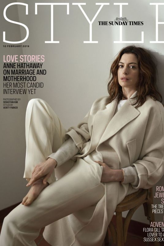 ANNE HATHAWAY for Sunday Times Style, February 2019