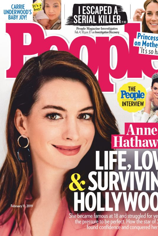ANNE HATHAWAY in People Magazine, February 2019