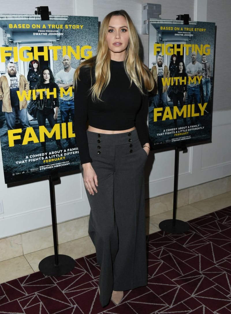 AQUEELA ZOLL at Fighting with My Family Tastemaker Screening in Los Angeles 02/20/2019