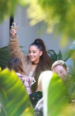 ARIANA GRANDE Celebrates Thank U, Next Hitting #1 in Beverly Hills 02/09/2019