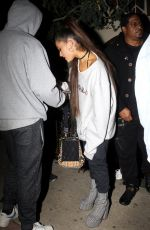 ARIANA GRANDE Leaves Pace Restaurant in Los Angeles 02/08/2019
