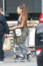 ARIANA GRANDE Shopping at Whole Foods in West Hollywood 02/17/2019