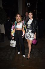 ASHLEY JAMES and CHARLOTTE DE CARL Night Out in London 01/30/2019