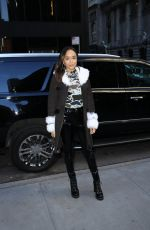 ASHLEY MADEKWE Arrives at Longchamp Fashion Show in New York 02/09/2019
