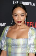 ASHLEY MADEKWE at The Umbrella Academy Premiere in Hollywood 02/12/2019