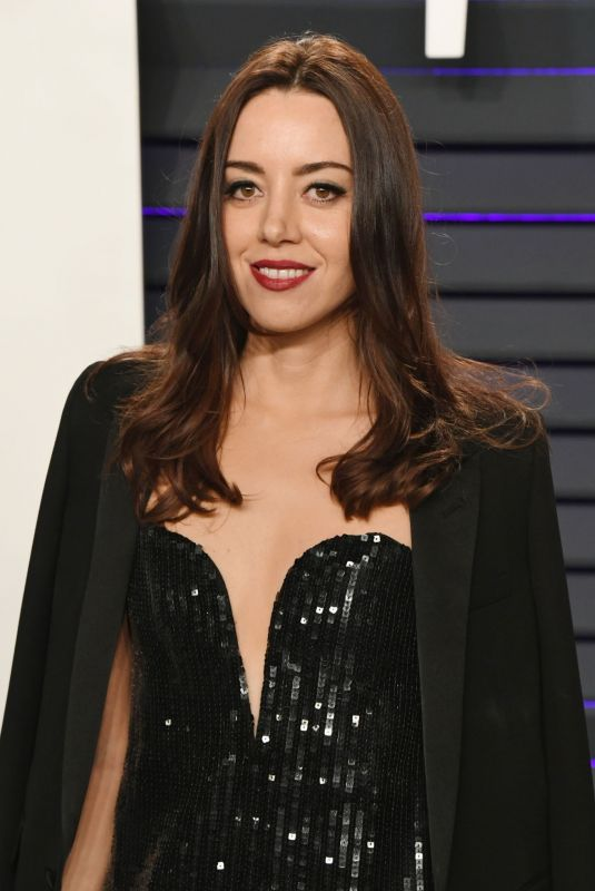 AUBREY PLAZA at Vanity Fair Oscar Party in Beverly Hills 02/24/2019