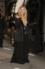 AVRIL LAVIGNE Aeaves at Her Hotel in New York 02/13/2019