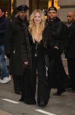 AVRIL LAVIGNE Leaves Her Hotel in New York 02/13/2019