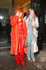BELLA and DANI THORNE Arrives at Sally Lapointe Fashion Show in New York 02/12/2019