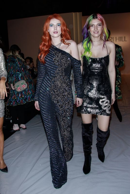 BELLA and DANI THORNE Leaves Sherri Hill Show at New York Fashion Week 02/08/2019