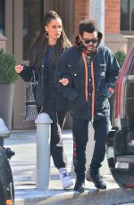 BELLA HADID and The Weeknd Leaves Their Apartment in New York 02/01/2019