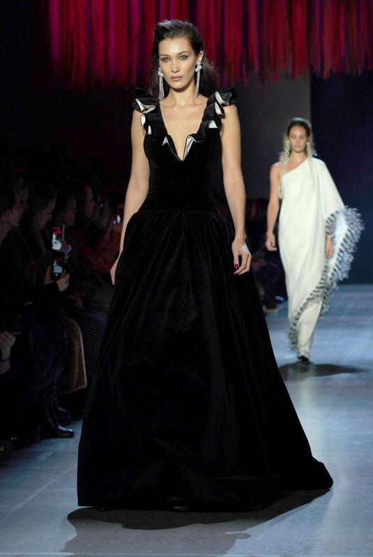 BELLA HADID at Prabal Gurung Runway Show at New York Fashion Week 02/10/2019
