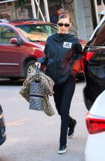 BELLA HADID Out in New York 02/10/2019