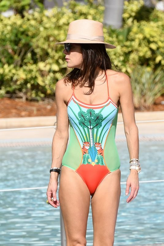 BETHENNY FRANKEL in Swimsuit at a Pool in Miami 02/03/2019
