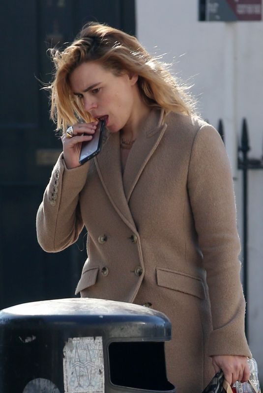 BILLIE PIPER Out and About in London 02/26/2019