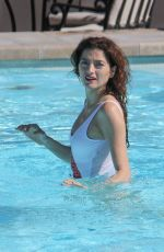 BLANCA BLANCO in Swimsuit at a Pool at Montage Hotel in Beverly Hills 02/07/2019