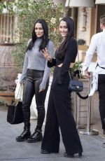 BRIE and NIKKI BELLA Out in Beverly Hills 02/20/2019