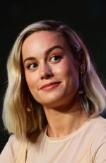 BRIE LARSON at Captain Marvel Press Conference in Singapore 02/14/2019