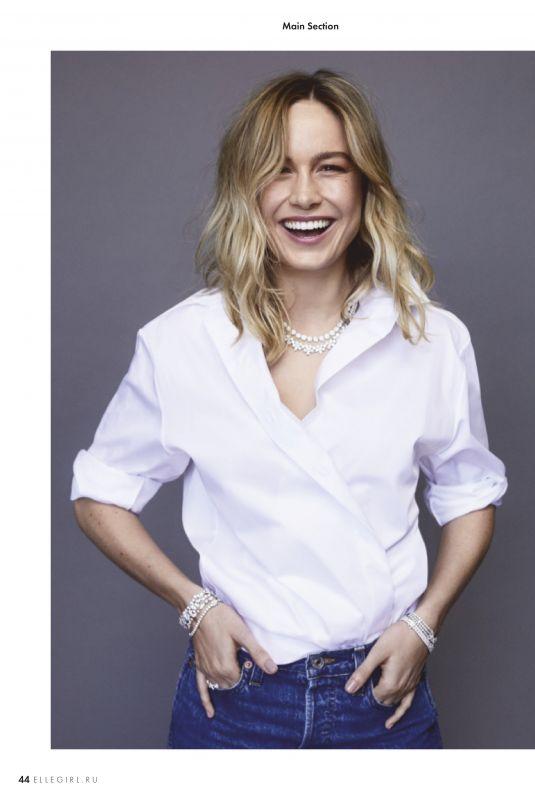 BRIE LARSON in Elle Girl Magazine, March 2019