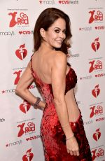 BROOKE BURKE at Aha Go Red for Women Red Dress Collection 2019 in New York 02/07/2019