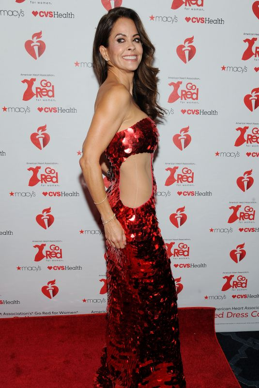 BROOKE BURKE at Heart Truth Go Red for Women Red Dress Collection Runway in New York 02/07/2019