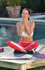 BROOKE BURKE on the Set of a Photoshoot for Brooke Burke Body App 02/12/2019