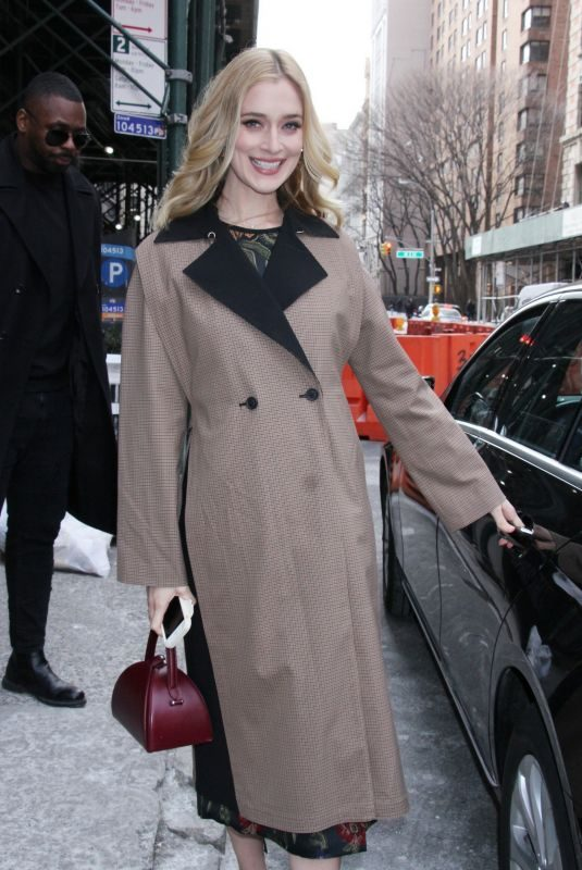 CAITLIN FITZGERALD Arrives at Build Series in New York 02/01/2019