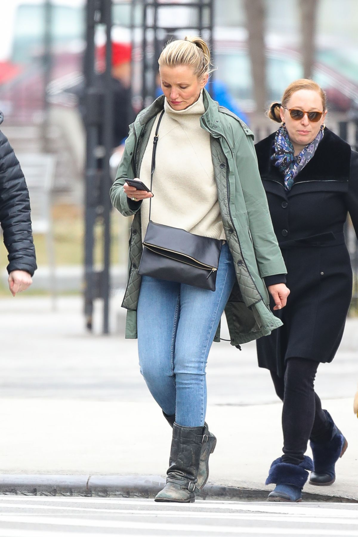 CAMERON DIAZ Out and About in New York 02/15/2019 - HawtCelebs