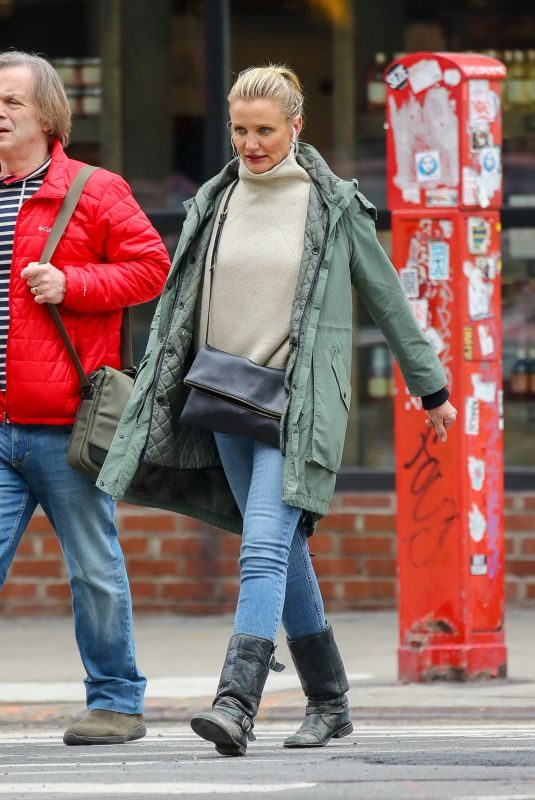 CAMERON DIAZ Out and About in New York 02/15/2019