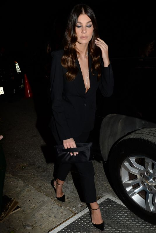 CAMILA MORRONE Arrives at WME Pre-oscar Party in Los Angeles 02/22/2019