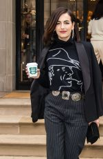 CAMILLA BELLE Leaves Ralph Lauren Fashion Show in New York 02/07/2019