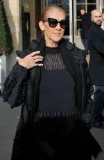 CELINE DION Leaves Her Hotel in Paris 02/01/2019