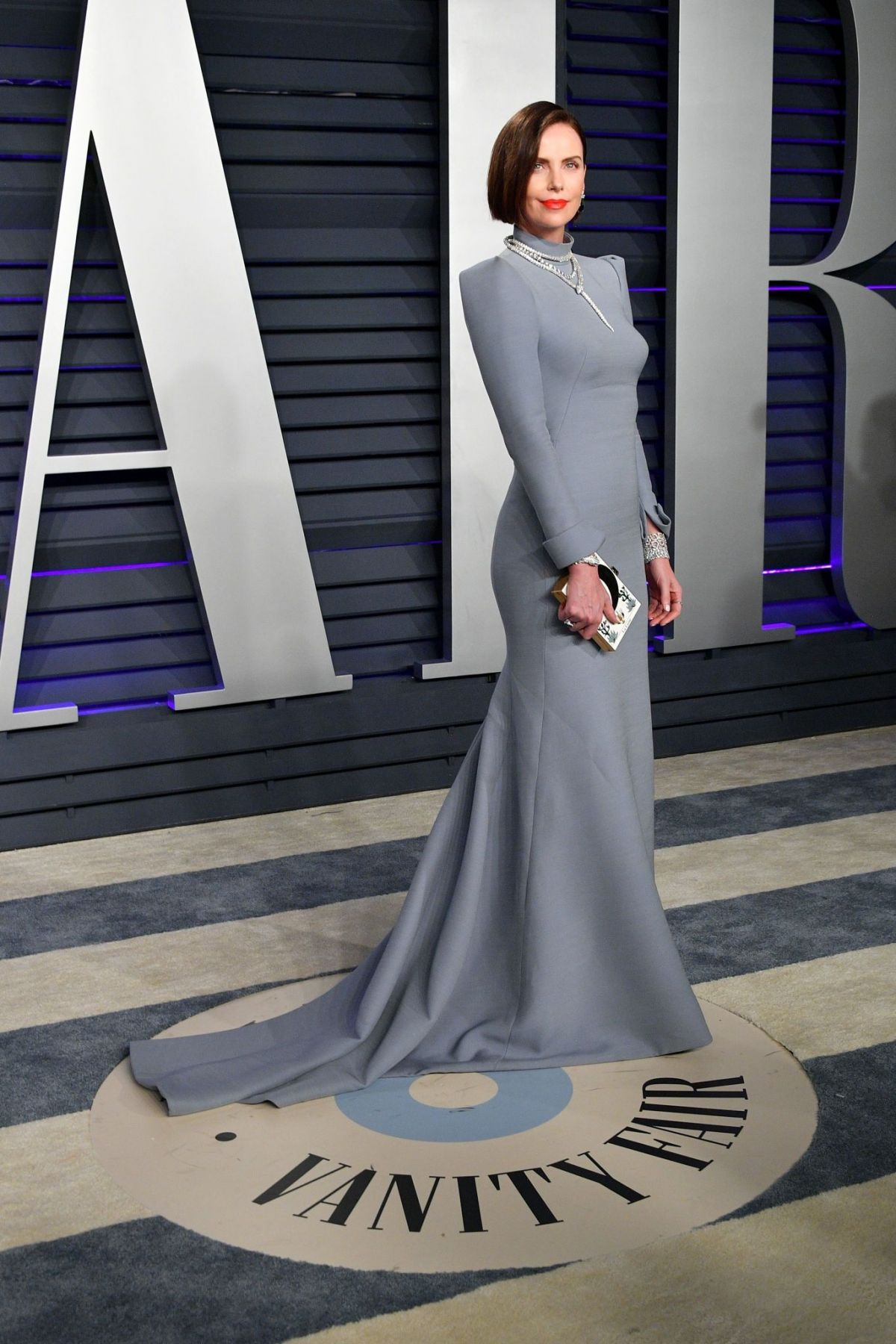 Charlize Theron At Vanity Fair Oscar Party In Beverly