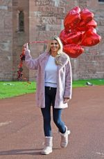 CHRISTINE MCGUINNESS on the Valentines Day Photoshoot in Cheshire 01/30/2019