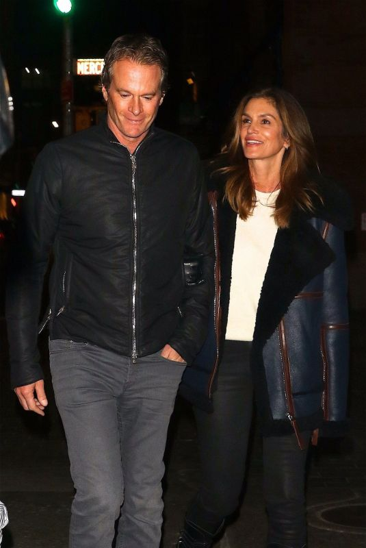 CINDY CRAWFORD and Randy Gerber Out for Dinner in New York 02/14/2019