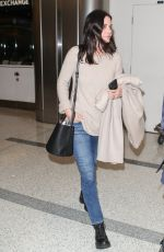 COURTENEY COX at LAX Airport in Los Angeles 01/31/2019