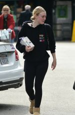 DAKOTA FANNING Shopping at Whole Foods in Los Angeles 02/01/2019