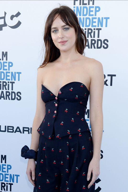 DAKOTA JOHNSON at Film Independent Spirit Awards in Santa Monica 02/23/2019