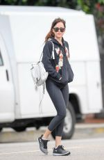 DAKOTA JOHNSON Leaves Yoga Class in Studio City 02/05/2019