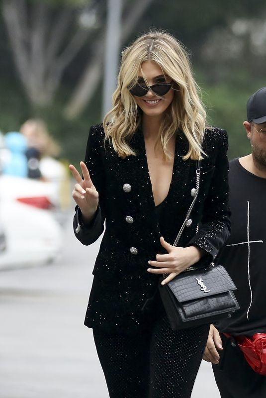 DELTA GOODREM on the Set of Extra in Los ANgeles 01/31/2019
