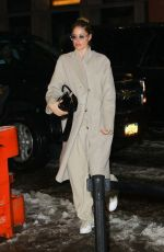 DOUTZEN KORES Arrives at Her Hotel in New York 02/12/2019